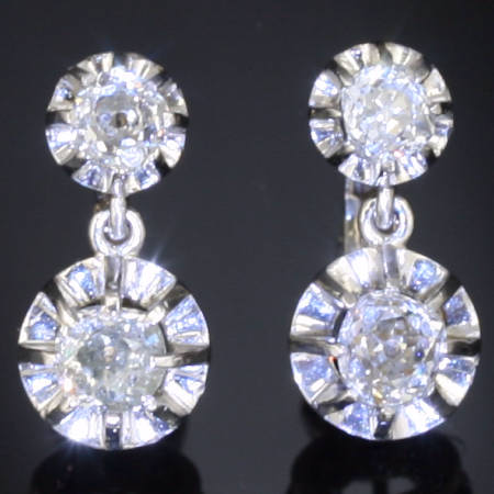 French Art Deco brilliant earrings
