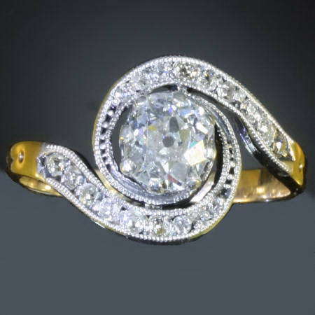 Victorian tourbillon engagement ring