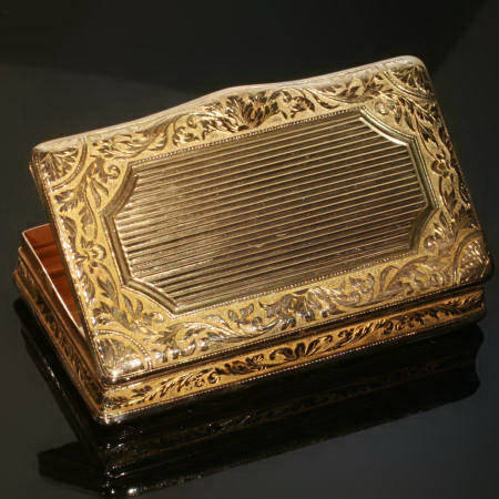 French Georgian golden snuffbox, can be used as pillbox