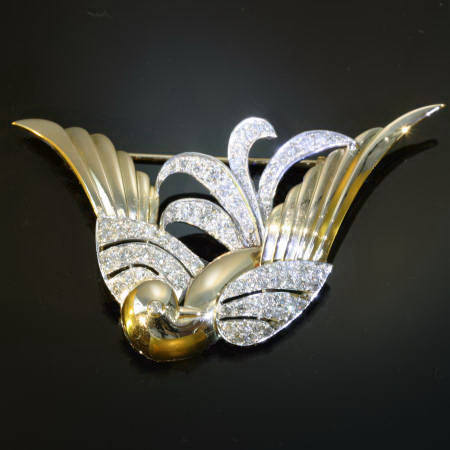 Magnificent Fifties brooch bird of paradise