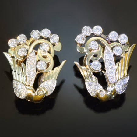 Antique earrings between $1500 and $5000