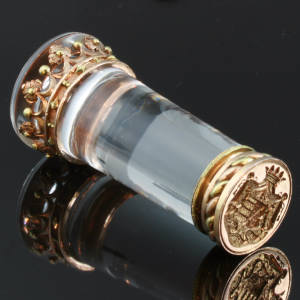 Absolute top notch Victorian Royal seal, rock crystal and gold, stunning quality