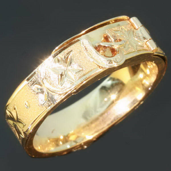 Gold Victorian belt ring with hidden space