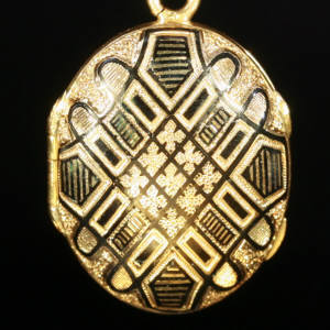 Antique jewelry with color black