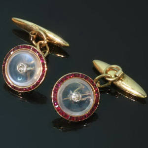 Antique jewelry with color red