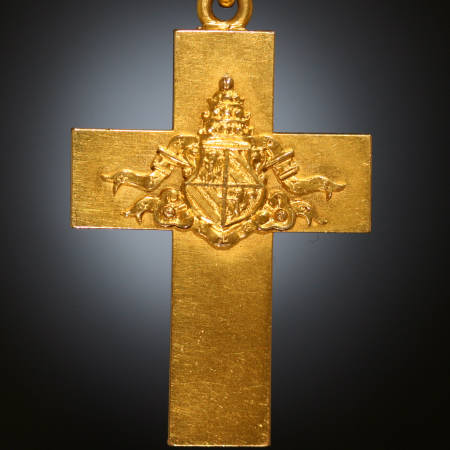 Bishops cross with Coat of Arms of Pope Pius IX of Adin Antique Jewelry, Antwerp, Belgium