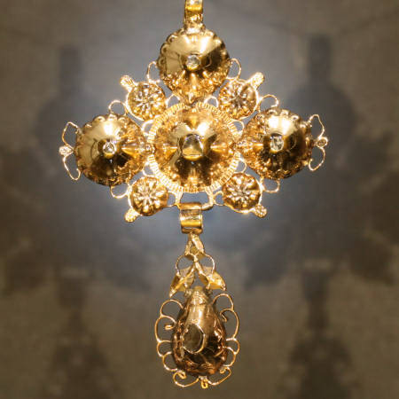 Early Victorian rose cut diamonds cross from the antique jewelry collection of Adin Antique Jewelry, Antwerp, Belgium