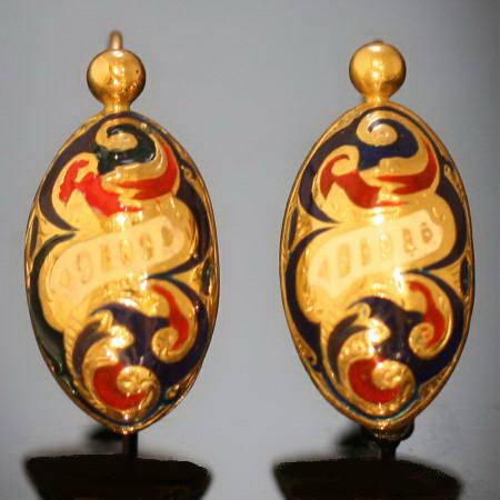 Antique earrings under $700