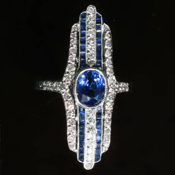 Antique jewelry with color blue up to $7,000