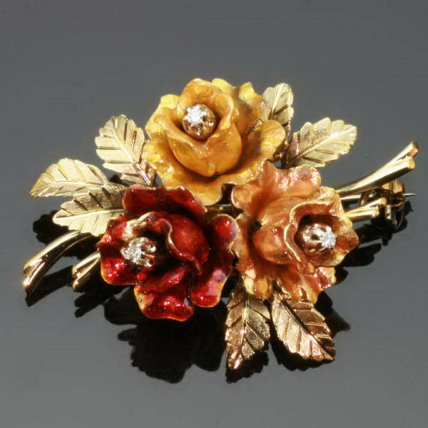 Antique jewelry with color yellow