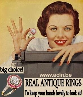 The entire genuine antique ring collection of Adin Antique Jewelry, Antwerp, Belgium