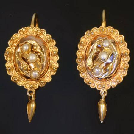 Antique earrings under $1000