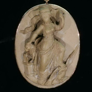 Antique jewelry with cameo