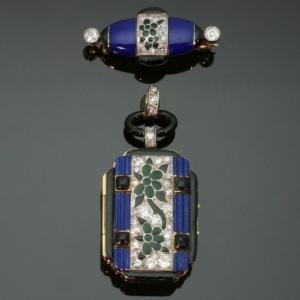 Antique jewelry with enamel