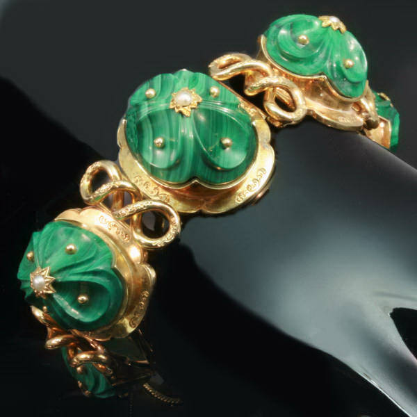 Antique jewelry with the color green up to $7,500