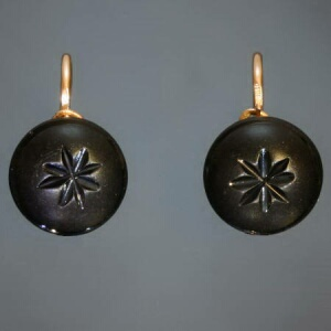 antique and estate earrings with black