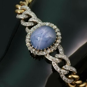 all antique and estate jewelry with blue