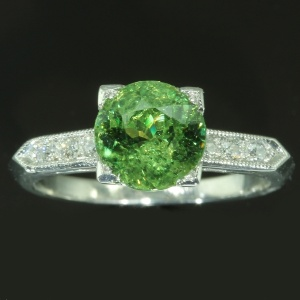 antique and estate rings with green