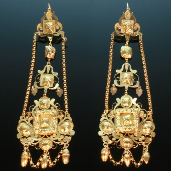 Antique earrings between $2500 and $7000