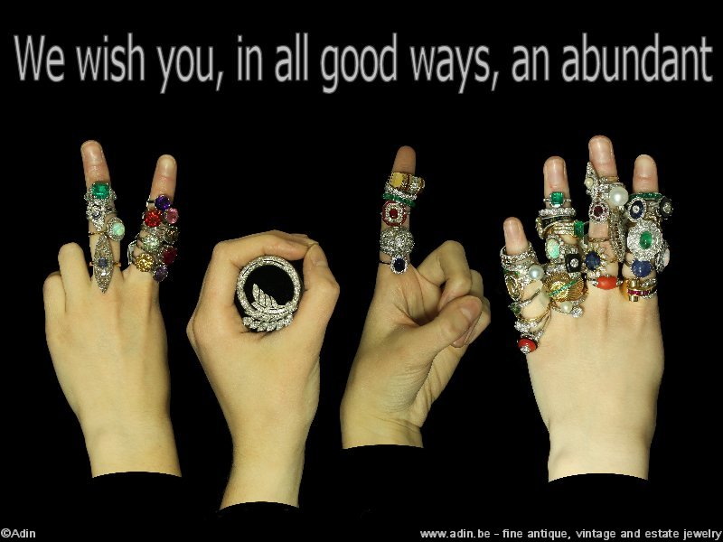 Happy new year from www.adin.be fine antique and vintage jewelry
